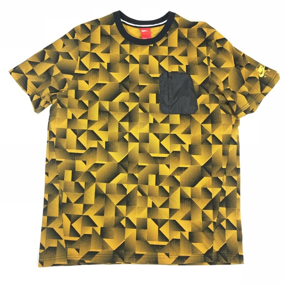 fba28135 Nike Shirts | Nwt Men Hybrid Knit Aop Pocket Shirt Sz Xl | Poshmark